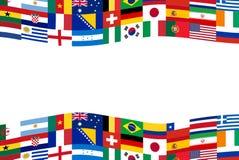 Знамя флага футбола команды Стоковая Фотография