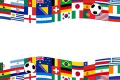 Знамя флага футбола команды Стоковые Изображения RF