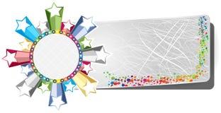 знамя цветастое иллюстрация вектора