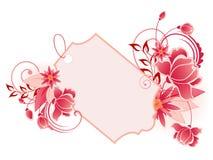 знамя цветет красный цвет орнамента листьев Иллюстрация штока