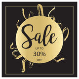 Знамя черных продажи лета роскошное, розовых и золота, для плаката скидки, продажа моды, предпосылки, в векторе Стоковые Фотографии RF