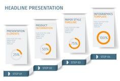 Знамя шагает шаблон дела infographic Смогите быть использовано для плана веб-дизайна и потока операций флористическое ilustration Стоковое Фото