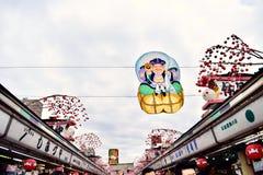 Знамя шаржа из виска Senso-ji в токио Японии Стоковая Фотография