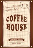 Знамя для кофейни Стоковые Изображения RF