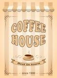 Знамя для кофейни Стоковая Фотография RF