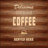 Знамя для кофейни Стоковое Фото