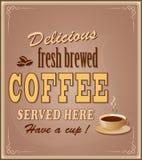 Знамя для кофе Стоковое Изображение RF