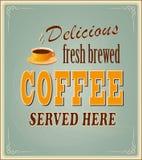 Знамя для кофе Стоковое Фото