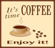 Знамя для кофе Стоковое фото RF