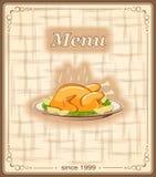 Знамя для меню с цыпленком Стоковое Изображение RF