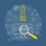 Знамя для образования онлайн Стоковые Фото