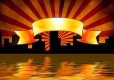 знамя Стоковая Фотография RF