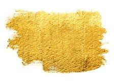 Знамя acrylic золота Стоковые Фото