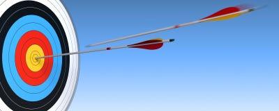 знамя archery Стоковое фото RF