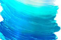 Знамя brushstrokes сини бирюзы стоковые изображения