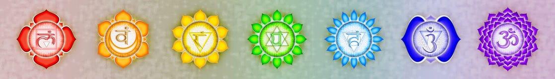 Знамя 7 chakras иллюстрация штока