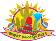 Знамя Cinco De Mayo стоковое изображение rf