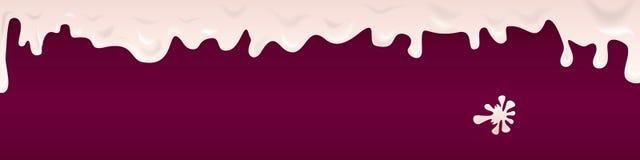 Знамя drippihg югурта вишни Стоковая Фотография RF
