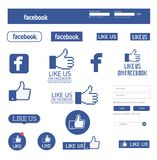 Знамя Facebook и комплект значка стоковые фотографии rf