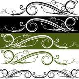 Знамя Flourish Стоковое Изображение