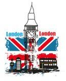 Знамя Grunge - влюбленность Лондон I Стоковое Изображение RF