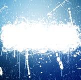 Знамя Grunge с белое чернильным брызгает Стоковое Фото