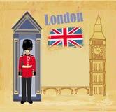 Знамя Grunge с Лондон Стоковое Изображение RF