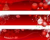 Знамя Horizantal рождества Стоковое фото RF