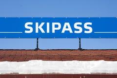 Знамя Skipass стоковые фотографии rf