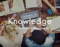Знание учит концепцию графика людей образования стоковое изображение rf