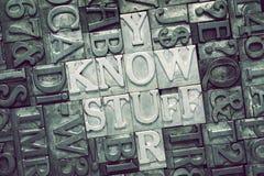 Знать встреченное вещество стоковые изображения