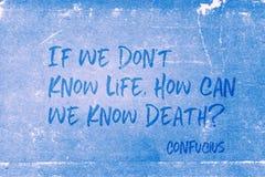 Знать жизнь Конфуция иллюстрация вектора