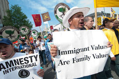 значения иммигранта семьи Стоковые Фото