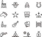 Значительно западные значки Стоковое Изображение