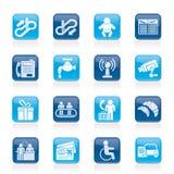 Значки авиапорта, перемещения и транспорта бесплатная иллюстрация
