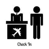 Значки авиапорта иллюстрация вектора