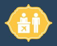 Значки авиапорта иллюстрация штока