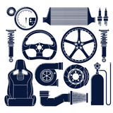 Значки автозапчастей Стоковые Изображения RF