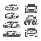 Значки автомобиля установили спорт suv 4x4 седана Стоковые Фото
