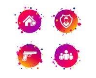 Значки агентства по безопасности Домашнее предохранение от экрана вектор бесплатная иллюстрация