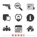 Значки агентства по безопасности Домашнее предохранение от экрана Стоковые Фотографии RF