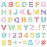 Значки алфавита иллюстрация штока