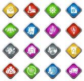 Значки альтернативной энергии Стоковые Изображения RF