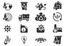 Значки альтернативной энергии Стоковое фото RF