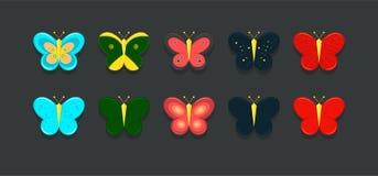 Значки бабочки Стоковая Фотография