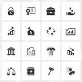 Значки банка и экономики Стоковое Изображение RF