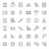 Значки, банк, финансы, контур, линия, monochrome, белая предпосылка Стоковые Фото