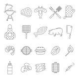Значки барбекю или гриля бесплатная иллюстрация