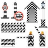 Значки барьера полиции вектора бесплатная иллюстрация
