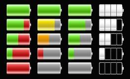 Значки батареи с различной обязанностью выравнивают для толпы иллюстрация штока